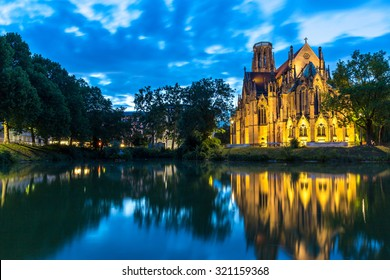 St John's Church at the evening in Stuttgart, Germany