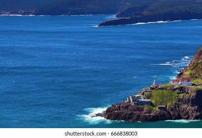 ST. JOHN'S, NEWFOUNDLAND AND LABRADOR - JUNE 14, 2017: A sunny day over Fort Amherst, Newfoundland, a National Historic Site of Canada.