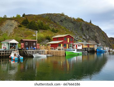 ST. JOHN'S, NEWFOUNDLAND AND LABRADOR - JUNE 18, 2017: Quidi Vidi Lake in the east end of St. John's, Newfoundland is where the Royal St. John's Regatta has been held annually since 1826.