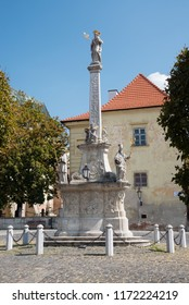 St. Joseph baroque column in Trnava, Slovakia