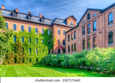 ST JOSEPH, MN/USA - SEPTEMBER 15, 2019: Saint Luke Hall on the campus of Saint John's University.