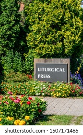 ST JOSEPH, MN/USA - SEPTEMBER 15, 2019: Liturgical Press Building on the campus of Saint John's University.