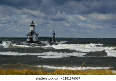 St. Joseph North Pier Outer Lighthouse in Western Michigan