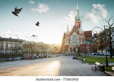 St. Joseph's church in Podgorze district of Krakow city, Poland