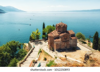 St. Jovan Kaneo church overlooking Ohrid lake, Macedonia
