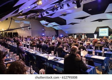 ST. JULIAN'S - MALTA, 29 March 2017: Congress of the European People's Party (EPP) in Malta. Working moments of the EPP Congress.