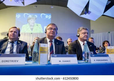 ST. JULIAN'S - MALTA, 30 March 2017: President of Ukraine Petro Poroshenko during the congress of the European People's Party (EPP) in Malta