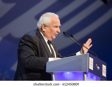 ST. JULIAN'S - MALTA, 30 March 2017: President of the European People's Party Joseph Daul during the congress of EPP in Malta. Joseph Daul is a French politician and Member of the European Parliament