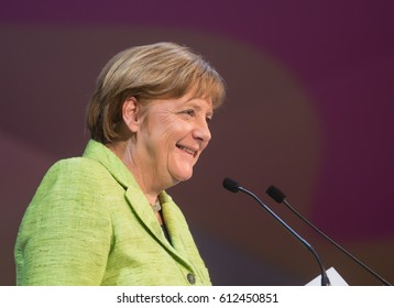 ST. JULIAN'S - MALTA, 30 March 2017: Chancellor of the Federal Republic of Germany Angela Merkel during the congress of the European People's Party (EPP) in Malta