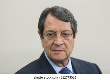 ST. JULIAN'S - MALTA, 30 March 2017: President of the Republic of Cyprus Nicos Anastasiades during the congress of the European People's Party (EPP) in Malta