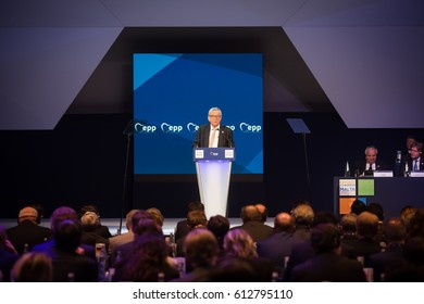 ST. JULIAN'S - MALTA, 30 March 2017: European Commission President Jean-Claude Juncker during the congress of the European People's Party (EPP) in Malta