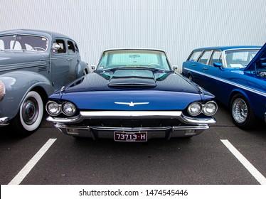 St Kilda, Victoria / Australia - September 2nd, 2018 - Melbourne Car show Father's day. 1965 Ford Thunderbird classic car.