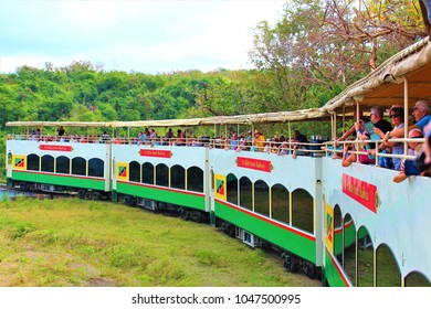 ST KITTS, CARIBBEAN - MARCH 1ST 2018: The 'St Kitts Scenic Railway' tourist attraction.