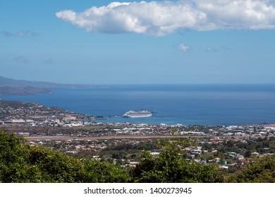 St Kitts Island, Caribbean, Basseterre Harbor overlook