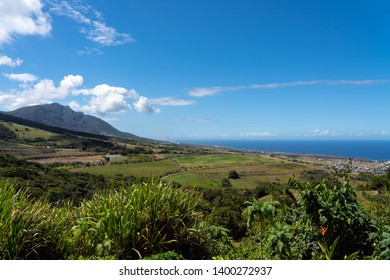 St Kitts Island Landscape in the Caribbean
