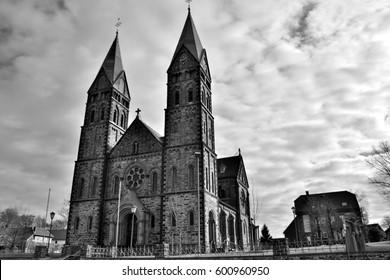 St. Lambertus church in Kalterherberg, Germany, close to Monschau. Also known as Eifeldom