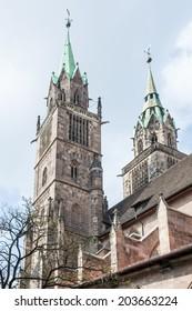 St. Lorenz Church in Nuremberg (Franconia, Bavaria)