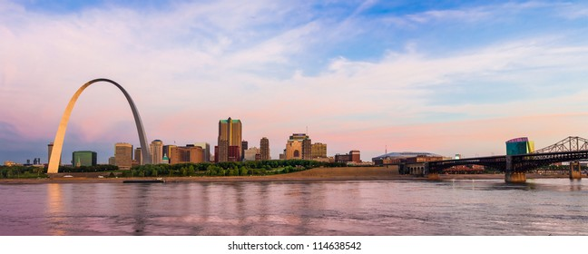 St. Louis from Arch to Eads Bridge