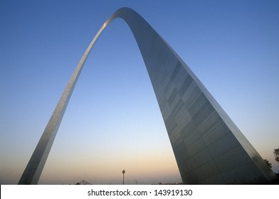 St. Louis Arch at Sunset with Eads Bridge, MO