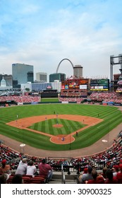 ST LOUIS - MAY 23: Busch Stadium home of the Saint Louis Cardinals and site of the 2009 All Star Game during game against the Kansas City Royals in St. Louis, MO on May 23, 2009