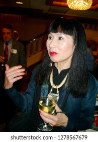 St. Louis, Missouri / December 4, 2003: The novelist Amy Tan at a reception following her talk sponsored by the Maryville University Speaker Series.