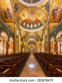 ST. LOUIS, MISSOURI - MAY 27: Sanctuary in the Cathedral Basilica of Saint Louis on Lindell Boulevard on May 27, 2015 in St. Louis, Missouri