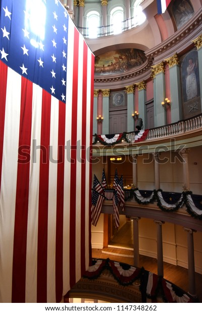 St. Louis, Missouri USA- July 19, 2018: Interior of Old Courthouse, Gateway Arch National Park
