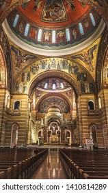 St. Louis Missouri, USA: November 7, 2018; The Interior of the Cathedral  Basilica of St Louis