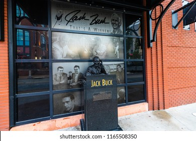ST. LOUIS, MO - AUGUST 10, 2018: Jack Buck is an American Sportscaster that is best known for being the announcer of the St. Louis Cardinals.