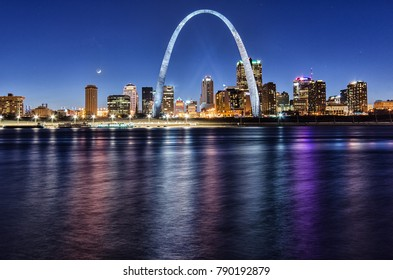 St. Louis Night Skyline