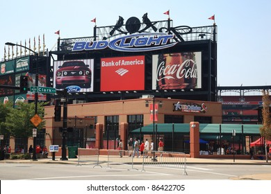 ST. LOUIS - SEPTEMBER 18: Busch Stadium before a Cardinals Major League baseball game on September 18, 2010 in St. Louis, MO. Opened in 2006, it seats 43,975 fans and cost $365 million.