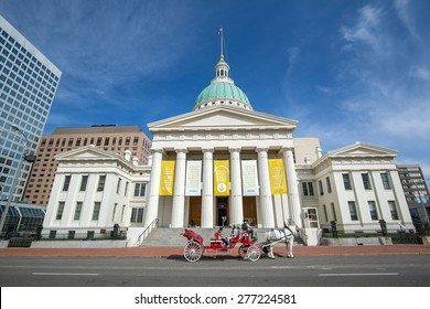 St. Louis-April 11: Old Courthouse in downtown St. Louis on April 11, 2015. It is Missouri's tallest habitable building from 1864 to 1894