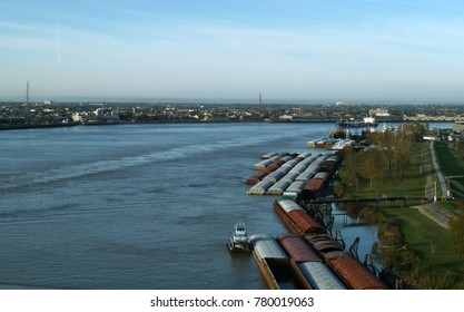 ST. LUCIA, CARIBBEAN ISLANDS—MARCH 2017: Coastal view of Port Castries in St. Lucia, Caribbean Islands with the industrial section of the dock