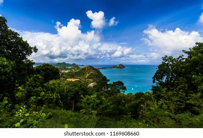 St Lucia in the caribbean, is Helen of the west.One of the spice or Leeward islands.