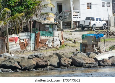 St. Lucia, Caribbean-January 10, 2019: Streets of St. Lucia