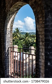 St. Lucia, Caribbean-January 10, 2019: Historic Ruins in St. Lucia