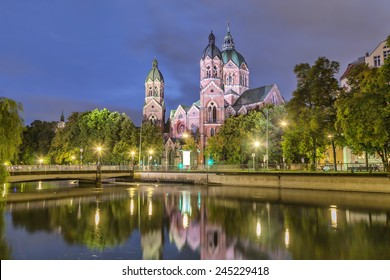 St. Luke Church, is the largest Protestant church in Munich, Germany
