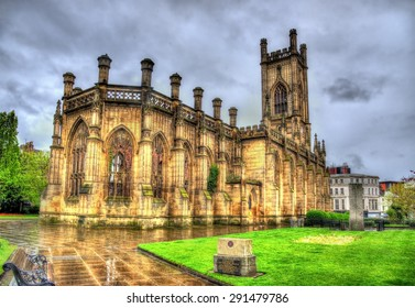 St Luke's Church in Liverpool - England
