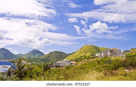 St Maarten tropical island .