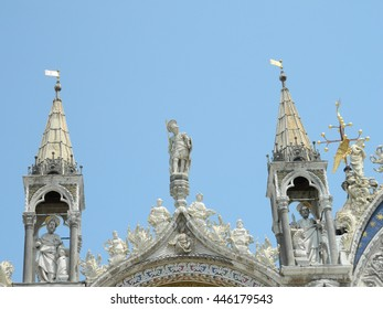 ST. Marc's Basilica in Venice Italy, architecture details.