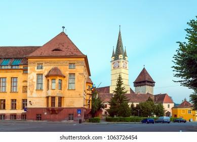 St. Margaret Church, the landmark in Medias, Romania