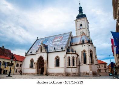 St. Marko's church Zagreb, Croatia
