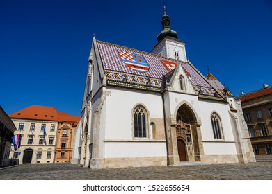 St. Mark's Church is one of the most famous landmarks in Zagreb, the capital of Croatia.