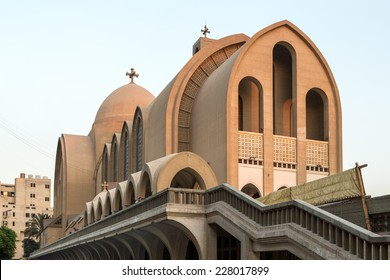 St. Mark's Coptic Orthodox Cathedral, which is the seat of the Coptic Orthodox Pope is located in the Abbassia District in Cairo, Egypt.
