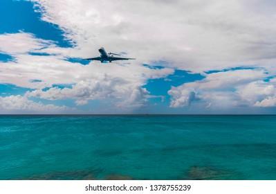 St. Martin amazing beach, Caribbean sea