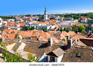 St. Martin church and jewish town, Trebic (UNESCO, the oldest Middle ages settlement of jew community in Central Europe), Moravia, Czech republic, Europe