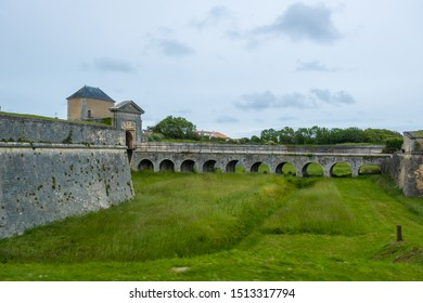 St Martin De Re, France - May 09, 2019: The Vauban forteress Fortifying Saint Martin de Re on Ile de Re island in France