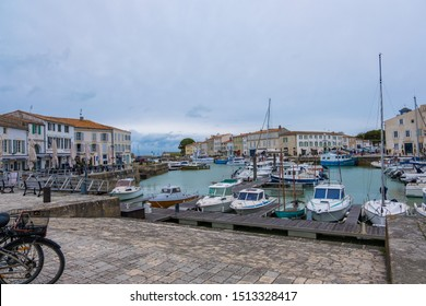 St Martin De Re, France - May 09, 2019: The harbour of Saint Martin de Re on Ile de Re island in France