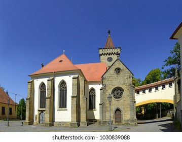 St. Martin parish church of Slatinany. Slatinany is a town in the Pardubice Region of the Czech Republic.