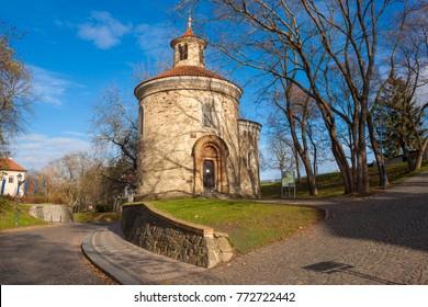 St. Martin Rotunda in Vysehrad (Upper castle) fort, Prague, Czech Republic. The Rotunda of St. Martin dates back to the 11th century